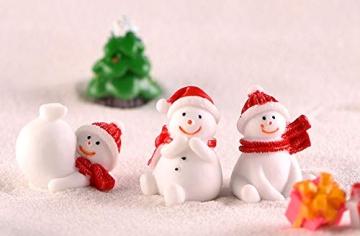 13 Stück Weihnachtsdeko Figuren Harz Miniatur Garten Figuren Kleine Schneemann Weihnachtsmann Baum Weihnachten Deko zum Schneekugeln Tischdeko Basteln Mini Ornamente für Fee Garten Bonsai Puppenhaus - 7