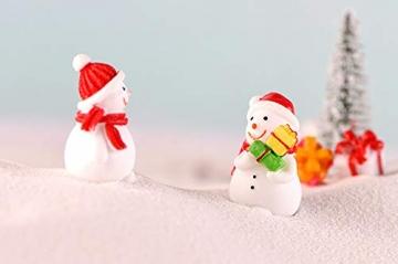 13 Stück Weihnachtsdeko Figuren Harz Miniatur Garten Figuren Kleine Schneemann Weihnachtsmann Baum Weihnachten Deko zum Schneekugeln Tischdeko Basteln Mini Ornamente für Fee Garten Bonsai Puppenhaus - 8