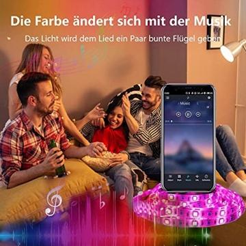 15M Led Strip, L8star LED Streifen Farbwechsel Led Lichterkette Lights, RGB Led Bänder Strips Sync zur Musik Anwendung für Schlafzimmer (2x7.5m)… - 2