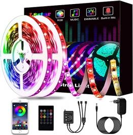 15M Led Strip, L8star LED Streifen Farbwechsel Led Lichterkette Lights, RGB Led Bänder Strips Sync zur Musik Anwendung für Schlafzimmer (2x7.5m)… - 1