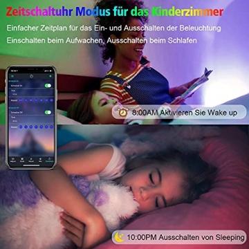 15M Led Strip, L8star LED Streifen Farbwechsel Led Lichterkette Lights, RGB Led Bänder Strips Sync zur Musik Anwendung für Schlafzimmer (2x7.5m)… - 4