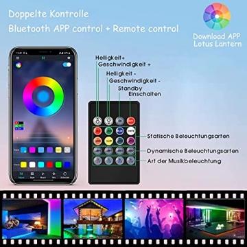 15M Led Strip, L8star LED Streifen Farbwechsel Led Lichterkette Lights, RGB Led Bänder Strips Sync zur Musik Anwendung für Schlafzimmer (2x7.5m)… - 5
