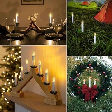 30er LED Kerzen Timer mit Fernbedienung, Weihnachtskerzen, IP64 Dimmbar Kerzenlichter Flammenlose Weihnachtskerzen für Weihnachtsbaum, Weihnachtsdeko, Hochzeit, Geburtstags, Party - 7