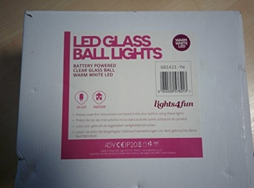 3er Set LED Glaskugeln warmweiß batteriebetrieben - 4