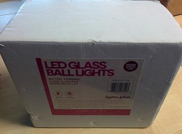 3er Set LED Glaskugeln warmweiß batteriebetrieben - 5