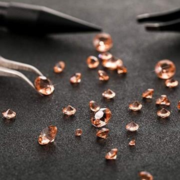 4000 Stücke Bling Diamant Acryl Edelstein Tisch Streuen Kristalle 3 mm, 6 mm, 10 mm Tisch Dekoration für Vase Füller Weihnachten Hochzeit Geburtstag Party (Rosa Gold) - 3