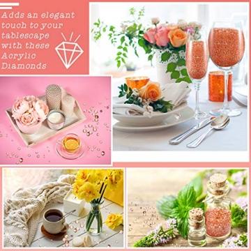 4000 Stücke Bling Diamant Acryl Edelstein Tisch Streuen Kristalle 3 mm, 6 mm, 10 mm Tisch Dekoration für Vase Füller Weihnachten Hochzeit Geburtstag Party (Rosa Gold) - 5