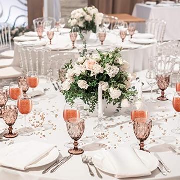 4000 Stücke Bling Diamant Acryl Edelstein Tisch Streuen Kristalle 3 mm, 6 mm, 10 mm Tisch Dekoration für Vase Füller Weihnachten Hochzeit Geburtstag Party (Rosa Gold) - 7