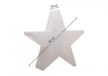 8 seasons design | Dekorative Leuchte Stern Shining Star Mini (E27, Ø 40 cm, für außen & innen: Garten, Balkon, Wohn- & Esszimmer, Kinderzimmer) weiß - 2
