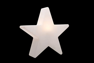 8 seasons design | Dekorative Leuchte Stern Shining Star Mini (E27, Ø 40 cm, für außen & innen: Garten, Balkon, Wohn- & Esszimmer, Kinderzimmer) weiß - 3