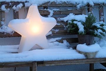 8 seasons design | Dekorative Leuchte Stern Shining Star Mini (E27, Ø 40 cm, für außen & innen: Garten, Balkon, Wohn- & Esszimmer, Kinderzimmer) weiß - 4