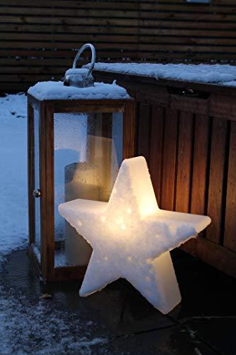 8 seasons design | Dekorative Leuchte Stern Shining Star Mini (E27, Ø 40 cm, für außen & innen: Garten, Balkon, Wohn- & Esszimmer, Kinderzimmer) weiß - 5