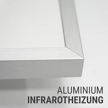 AUROM Infrarotheizung Sonplex – Elektroheizung Aluminium, Weiß, Heizpaneel für Wandmontage, elektrisch, 300 - 1100 Watt, neueste Infrarot Heiztechnik, IPX4 Nässe-Schutz, 2 J. Garantie (1100 Watt) - 3