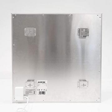 AUROM Infrarotheizung Sonplex – Elektroheizung Aluminium, Weiß, Heizpaneel für Wandmontage, elektrisch, 300 - 1100 Watt, neueste Infrarot Heiztechnik, IPX4 Nässe-Schutz, 2 J. Garantie (1100 Watt) - 6