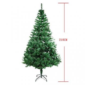 BAFYLIN Künstlicher Weihnachtsbaum Tannenbaum Kiefernadel Christbaum Dekobaum Kunstbaum (Grün, 210cm) - 2