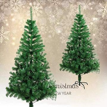 BAFYLIN Künstlicher Weihnachtsbaum Tannenbaum Kiefernadel Christbaum Dekobaum Kunstbaum (Grün, 210cm) - 3