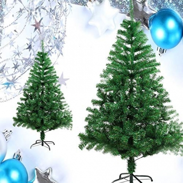 BAFYLIN Künstlicher Weihnachtsbaum Tannenbaum Kiefernadel Christbaum Dekobaum Kunstbaum (Grün, 210cm) - 4