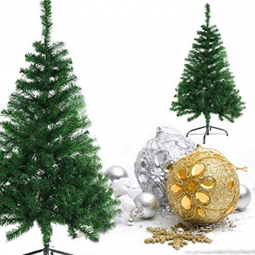 BAFYLIN Künstlicher Weihnachtsbaum Tannenbaum Kiefernadel Christbaum Dekobaum Kunstbaum (Grün, 210cm) - 5