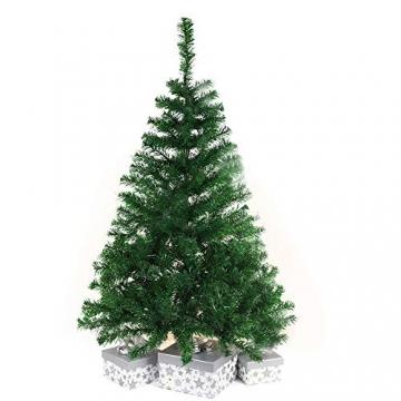 BAFYLIN Künstlicher Weihnachtsbaum Tannenbaum Kiefernadel Christbaum Dekobaum Kunstbaum (Grün, 210cm) - 6