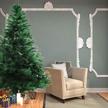 BAFYLIN Künstlicher Weihnachtsbaum Tannenbaum Kiefernadel Christbaum Dekobaum Kunstbaum (Grün, 210cm) - 7