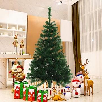BAFYLIN Künstlicher Weihnachtsbaum Tannenbaum Kiefernadel Christbaum Dekobaum Kunstbaum (Grün, 210cm) - 8
