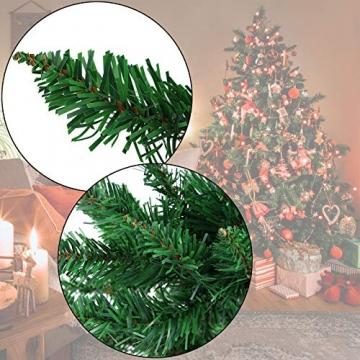 BB Sport Christbaum Weihnachtsbaum 180 cm Mittelgrün PVC Tannenbaum Künstlich Standfuß Klappsystem - 2