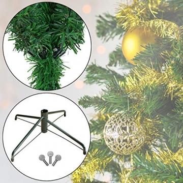 BB Sport Christbaum Weihnachtsbaum 180 cm Mittelgrün PVC Tannenbaum Künstlich Standfuß Klappsystem - 3