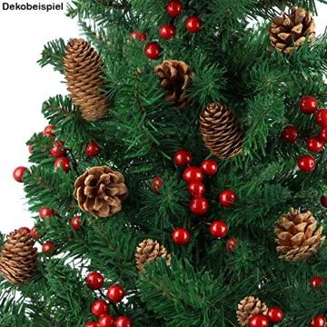 BB Sport Christbaum Weihnachtsbaum 180 cm Mittelgrün PVC Tannenbaum Künstlich Standfuß Klappsystem - 4