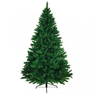 BB Sport Christbaum Weihnachtsbaum 180 cm Mittelgrün PVC Tannenbaum Künstlich Standfuß Klappsystem - 1