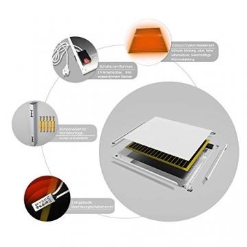 Byecold Infrarotheizung mit Schalter 900W Elektrische Wandheizung Infrarot Heizplatte Heizung Energiesparend Wandmontage Überhitzungsschutz Carbon Crystal mit RoHS CE GS - 7