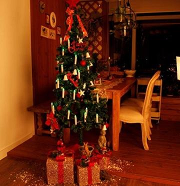 CCLIFE TÜV GS LED Weihnachtskerzen Kabellos RGB Kerzen Bunt Weihnachtsbaumkerzen Christbaumkerzen mit Fernbedienung Timer Kerzenlichter(Beige, 40er) - 3