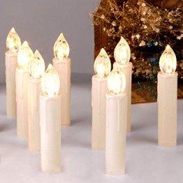 CCLIFE TÜV GS LED Weihnachtskerzen Kabellos RGB Kerzen Bunt Weihnachtsbaumkerzen Christbaumkerzen mit Fernbedienung Timer Kerzenlichter(Beige, 40er) - 1