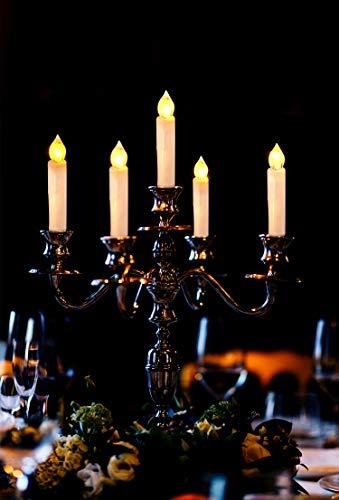 CCLIFE TÜV GS LED Weihnachtskerzen Kabellos RGB Kerzen Bunt Weihnachtsbaumkerzen Christbaumkerzen mit Fernbedienung Timer Kerzenlichter(Beige, 40er) - 7