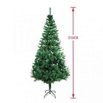 COOSNUG 210cm Weihnachtsbaum Künstlich Grün unechter Tannenbaum mit Metall Christbaum Ständer Schwer entflammbar - 2