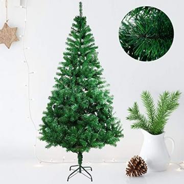 COOSNUG 210cm Weihnachtsbaum Künstlich Grün unechter Tannenbaum mit Metall Christbaum Ständer Schwer entflammbar - 3