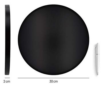 D&D Living Deko Tablett Rund Ø 30 cm | Design Dekoteller und Dekotablett aus Metall (Schwarz matt) - 2