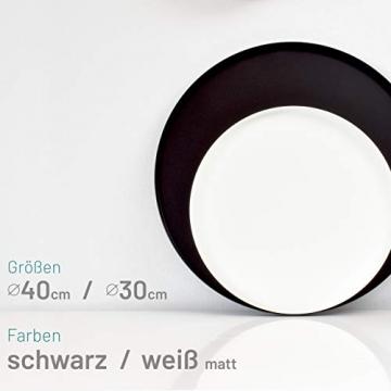D&D Living Deko Tablett Rund Ø 30 cm | Design Dekoteller und Dekotablett aus Metall (Schwarz matt) - 4
