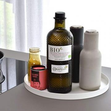 D&D Living Deko Tablett Rund Ø 30 cm | Design Dekoteller und Dekotablett aus Metall (Schwarz matt) - 6