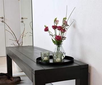 D&D Living Deko Tablett Rund Ø 30 cm | Design Dekoteller und Dekotablett aus Metall (Schwarz matt) - 8
