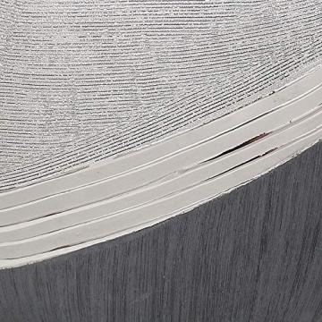 Dekohelden24 Edle Moderne Deko Designer Keramik Schale/Platte/Naschschale/Dekoschale in Silber-grau, 30 cm - 2