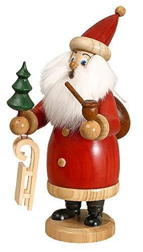 DWU Original Erzgebirgischer Räuchermann® Weihnachtsmann rot mit Geschenke #958/R - 1