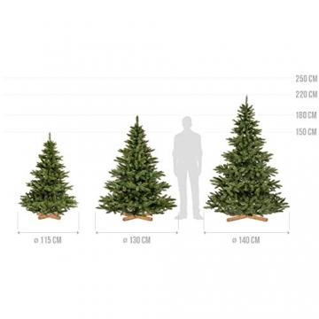 FairyTrees Weihnachtsbaum künstlich NORDMANNTANNE, grüner Stamm, Material PVC, inkl. Holzständer, 180cm - 5