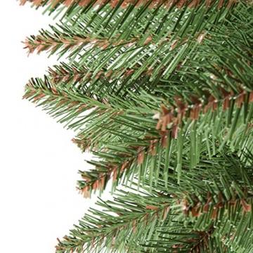 FairyTrees Weihnachtsbaum künstlich NORDMANNTANNE, grüner Stamm, Material PVC, inkl. Holzständer, 150cm - 2