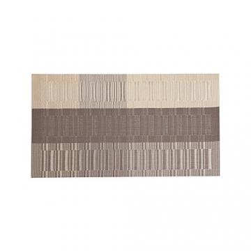 Fontic 6er Set Platzsets 30x45cm Platzdeckchen Rutschfest Abwaschbar Tischmatten PVC Abgrifffeste Hitzebeständig Tischsets, Platz-Matten für küche - 5