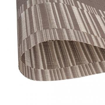 Fontic 6er Set Platzsets 30x45cm Platzdeckchen Rutschfest Abwaschbar Tischmatten PVC Abgrifffeste Hitzebeständig Tischsets, Platz-Matten für küche - 6