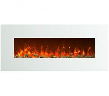GLOW FIRE Venus Elektrokamin mit Heizung, Wandkamin mit LED | Künstliches Feuer mit zuschaltbarem Heizlüfter: 750/1500 W | Fernbedienung, 126 cm, Weiß - 3