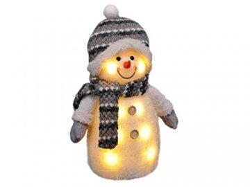 Gravidus - Süßer Schneemann mit Mütze, Schal & Handschuhen   Weihnachtsbeleuchtung, Weihnachtsfigur, LED-Weihnachtsdeko   Weihnachts-Innen-Fenster-Deko   Höhe ca. 33 cm - 1