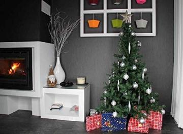havalime Künstlicher Weihnachtsbaum, Christbaum - Ausklappbare Zweige aus PVC, Stamm aus Metall, inklusive Plastikfuß (210 cm) - 2