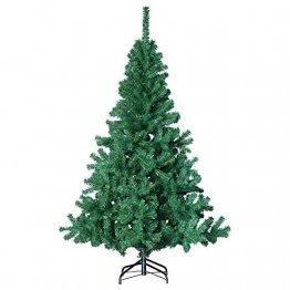 havalime Künstlicher Weihnachtsbaum, Christbaum - Ausklappbare Zweige aus PVC, Stamm aus Metall, inklusive Plastikfuß (210 cm) - 1