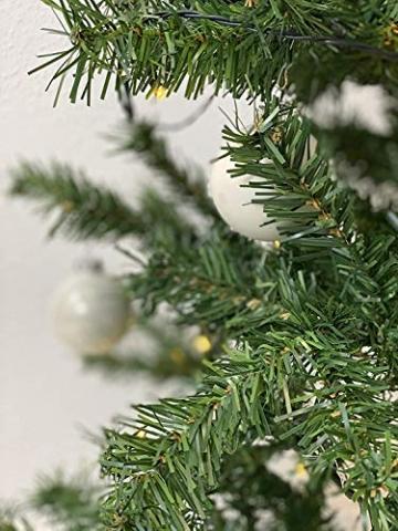 havalime Künstlicher Weihnachtsbaum, Christbaum - Ausklappbare Zweige aus PVC, Stamm aus Metall, inklusive Plastikfuß (210 cm) - 5